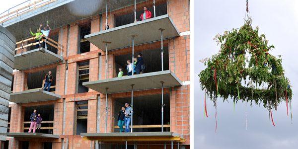 Baugemeinschaft Koko24 feiert Richtfest