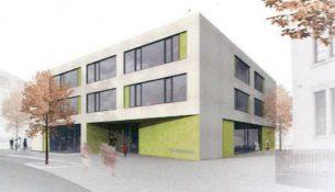 Schulneubau Leisniger Straße 78 Visualisierung