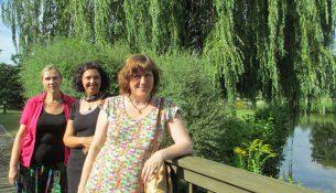 Ines Becker, Wibke Wolf und Elke Gebert eröffnen in Trachenberge eine Kita im Grünen