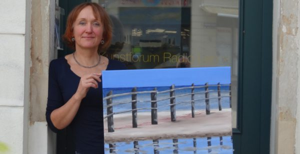Kunstforum RadioLenck: Ins Blaue mit Ines Lehmann