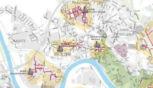 Punktuelle Lösungen imUmfeld von Heizkraftwerken dominieren im Ortsamtsbereich Pieschen. Quelle: drewag