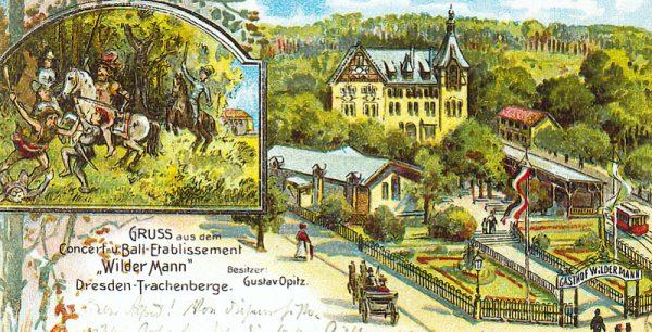 Gasthof Wilder Mann Kunstpostkarte