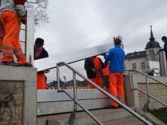 Flutschutzmauer Testaufbau