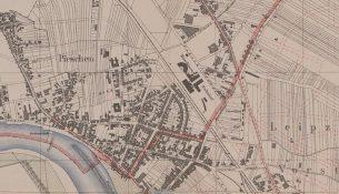 Kartenausschnitt Pieschen 1896