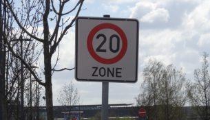 Elbepark verkehrsrechtliche anordnung 0604 20 Schild