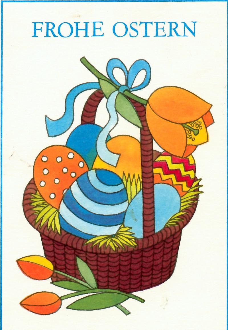 Ostern Karte DDR 1984