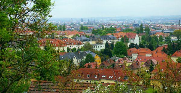 Wanderung Blick vom Panoramaweg auf Dresden