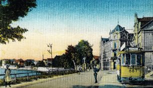 böcklinstraße Endhaltestelle um 1925