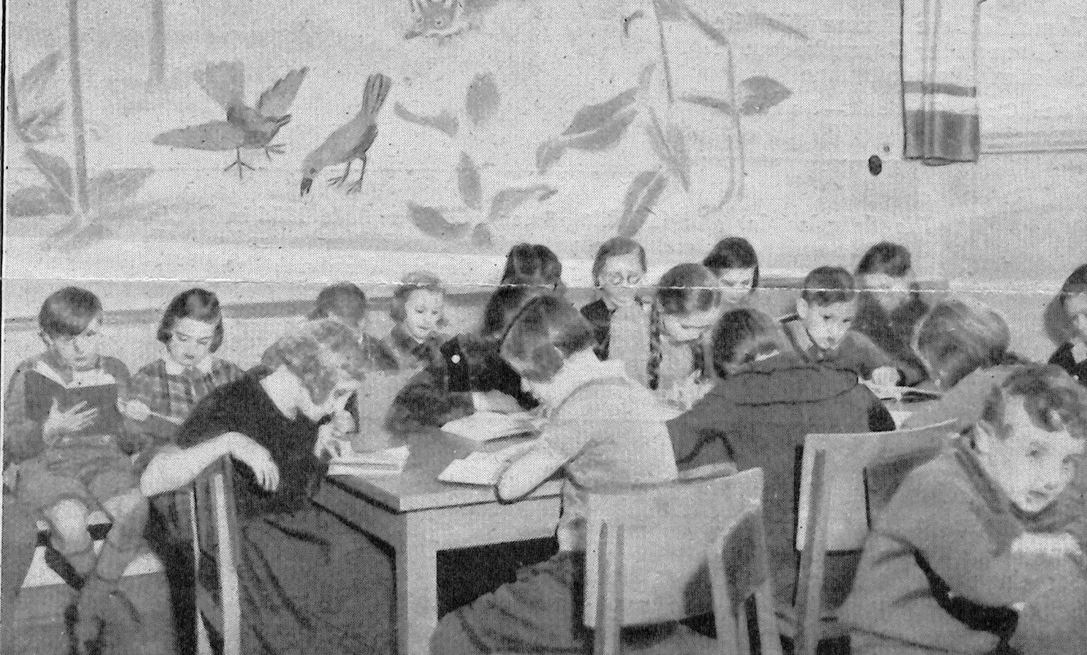 Städtischen Bücherei-Kinderlesezimmer 1936