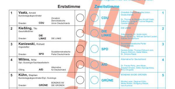 Stimmzettel_Wahlkreis 160_Muster