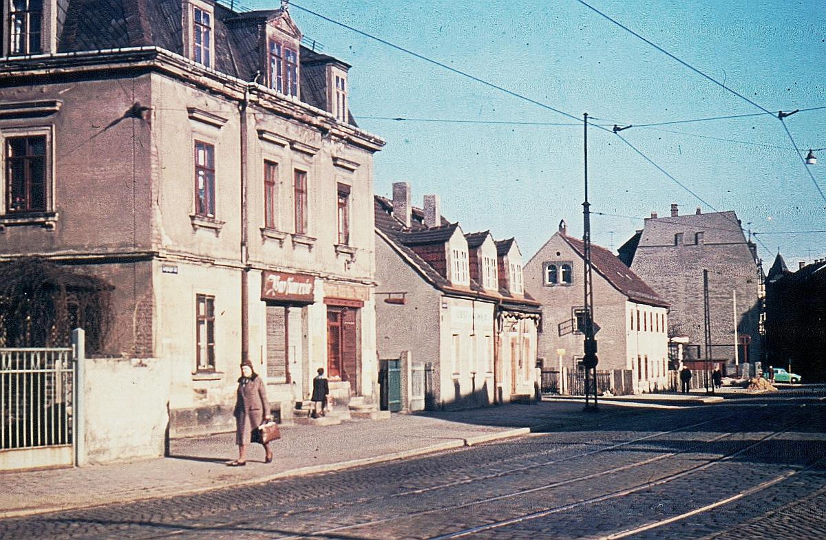 Trachau Leipziger Straße 240-246 um 1960