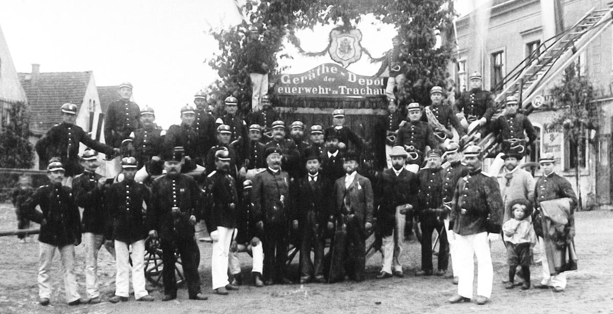 Feuerwehr Trachau um 1898