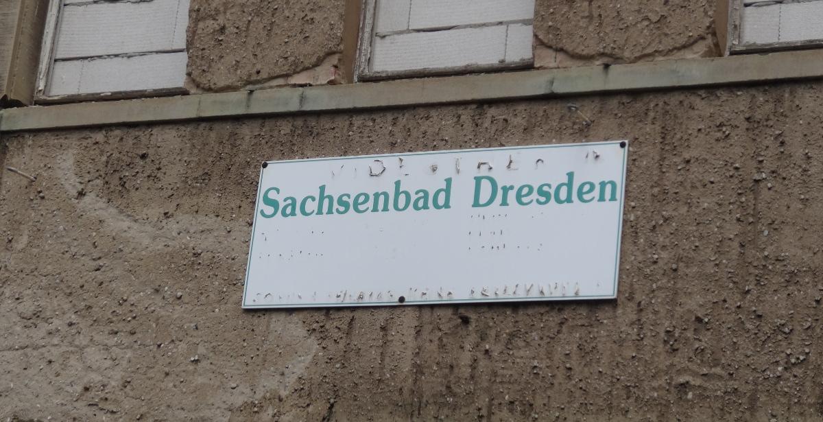 Sachsenbad Schild