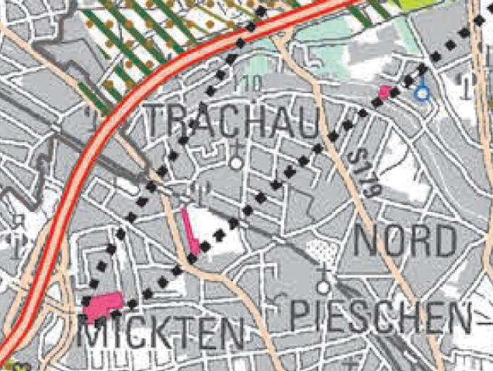 Hufewiesen Regionalplan oberes Elbtal Raumnutzung