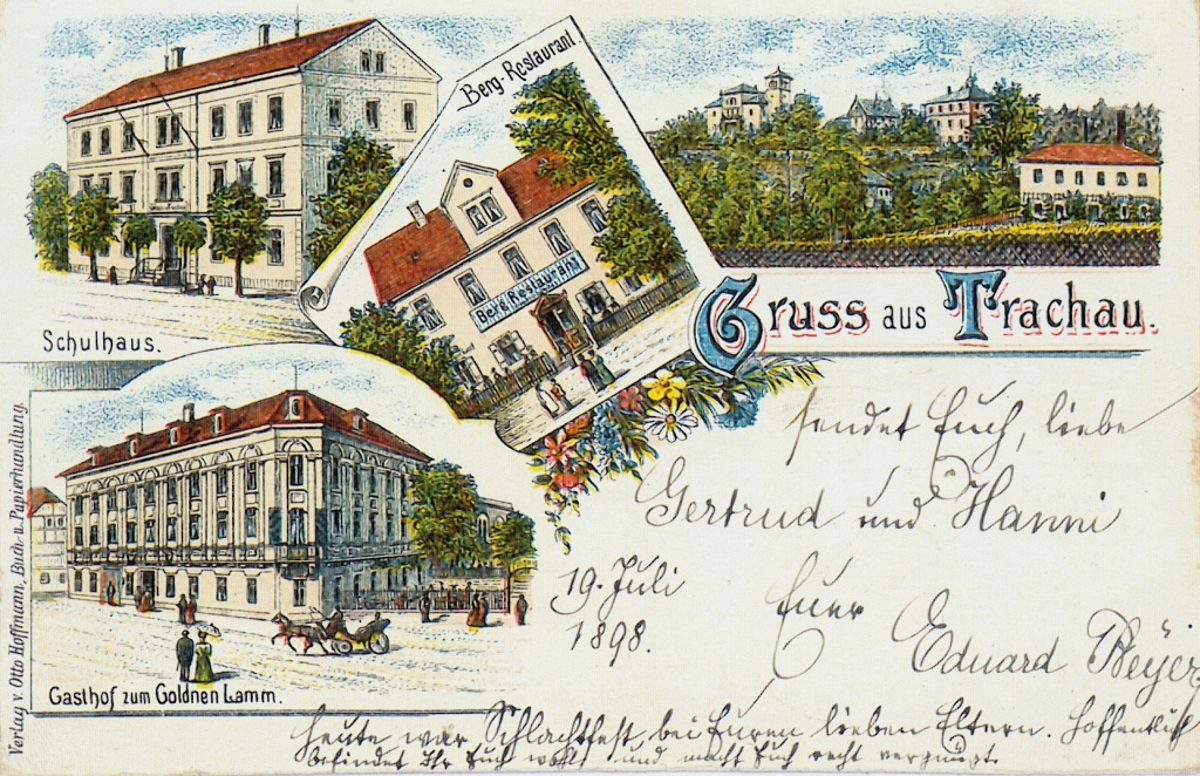 trachau schule postkarte