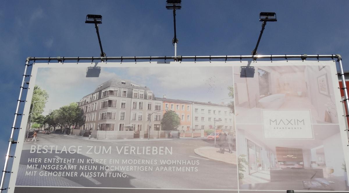 Maxim-Gorki-Strasse Ecke Trachenberger Strasse bautafel