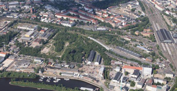 Leipziger Vorstadt Luftbild Haschenz