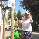 Bäume gießen Frau Beyer