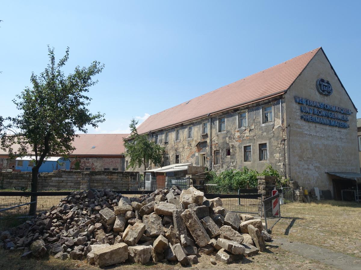 Schloss Übigau Transformatorenwerk Wiessner