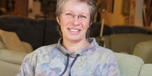 Ute Fenner: Im Sitzen ist die rührige Geschäftsfrau eher selten anzutreffen