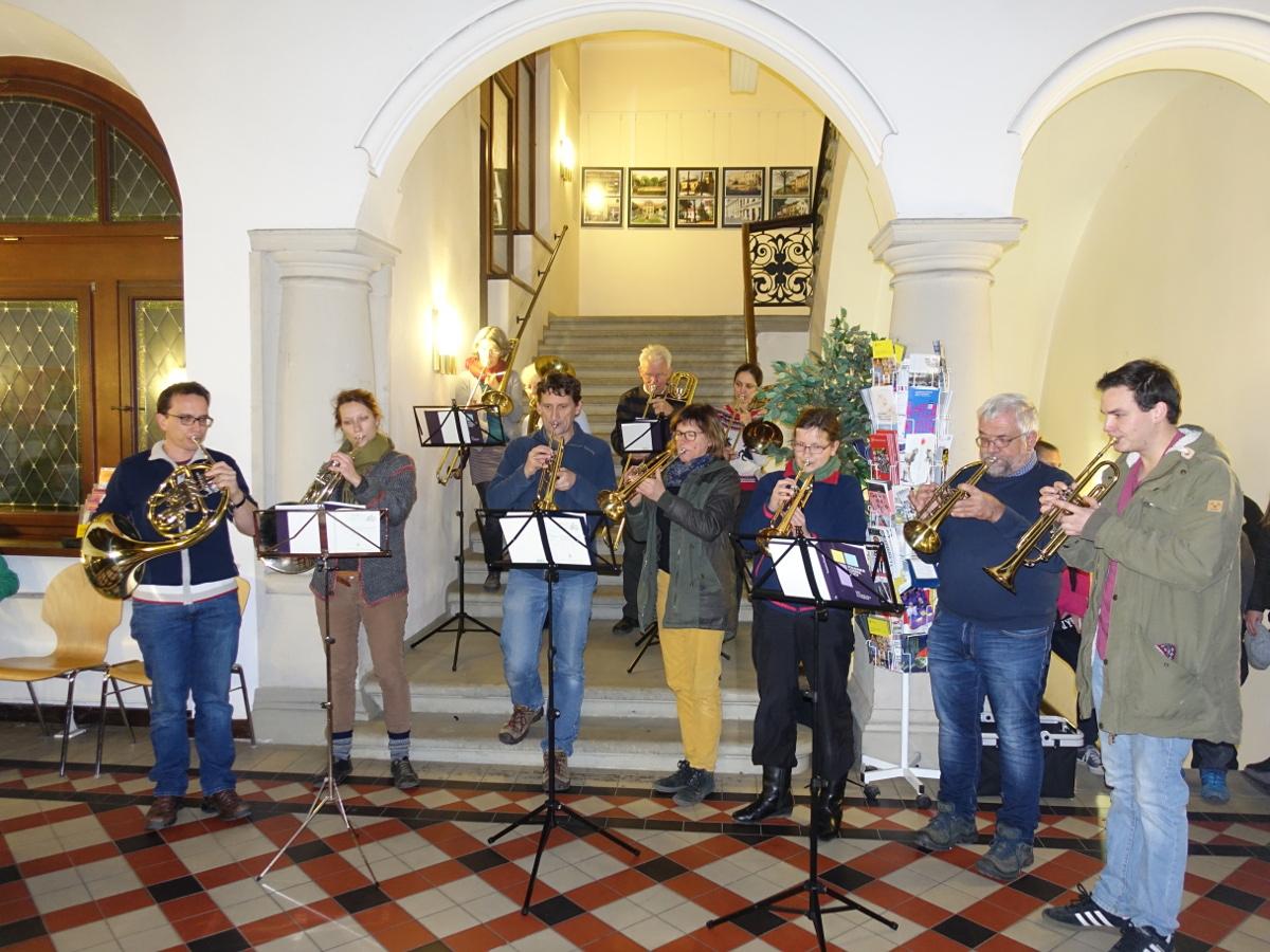 Rathaus Pieschen Stern Posaunenchor