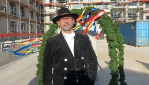 Richtfest Oberpolier Frank Werner
