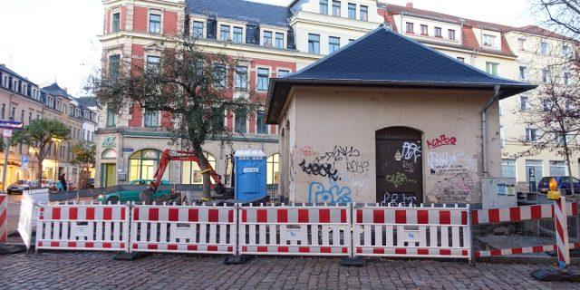 Trafo Konkordienplatz Bausstelle