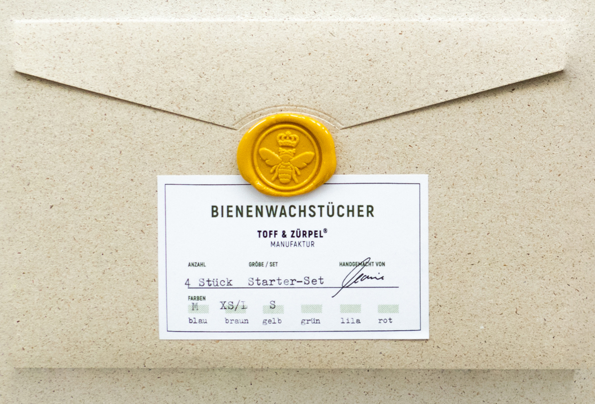 Bienenwachstücher Verpackung