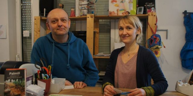 Andreas Grolms und Florence Scharfe