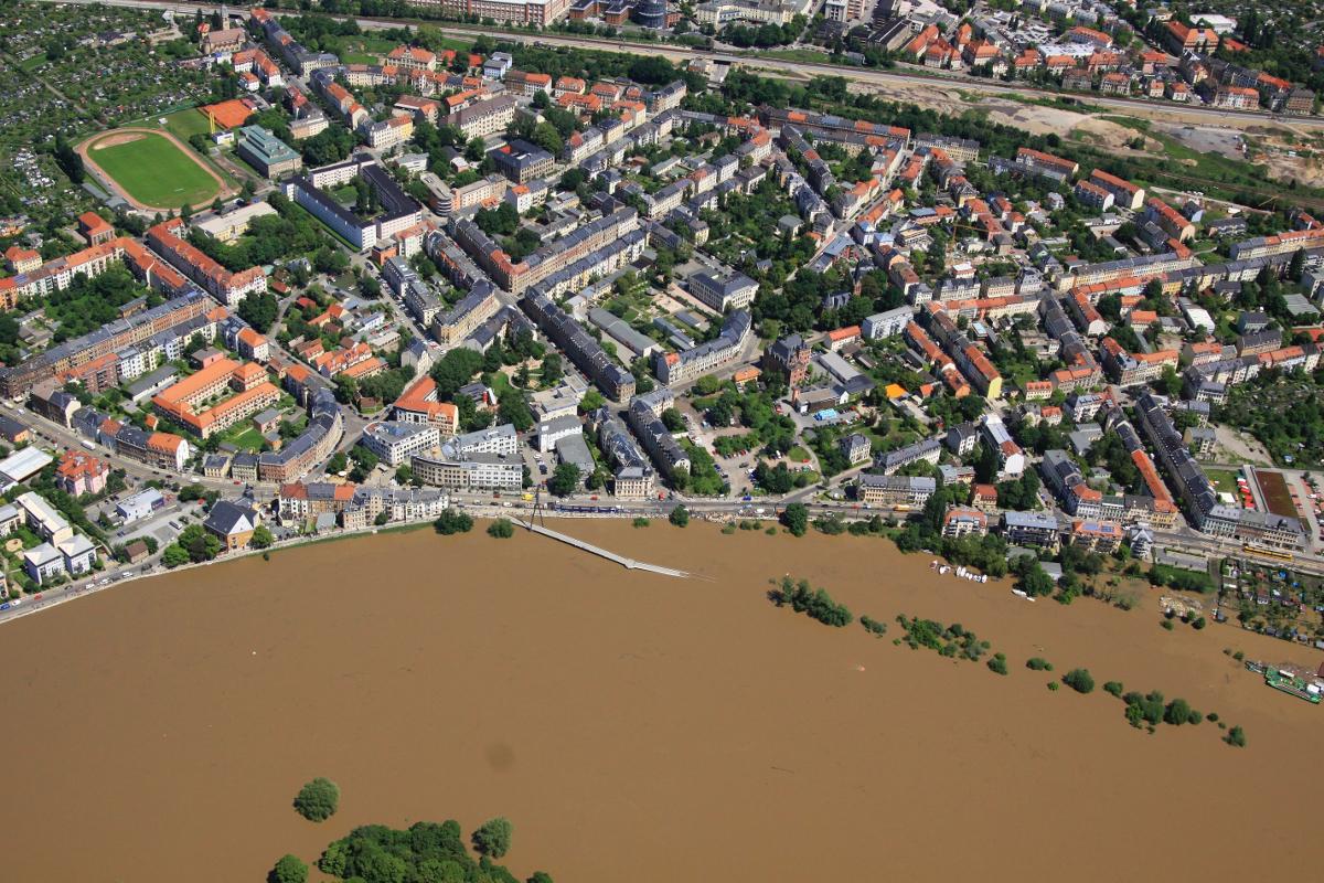 Hochwasser Pieschener Winkel