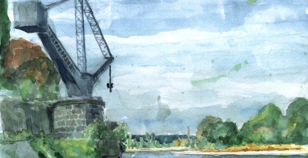 Helms' Bilder: Der Werftkran in Übigau