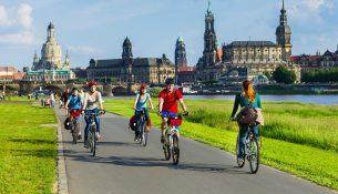 Etwa 30 Kilometer des Elberadweges verlaufen im Stadtgebiet Dresden. © Elberadweg Süd / Sylvio Dittrich