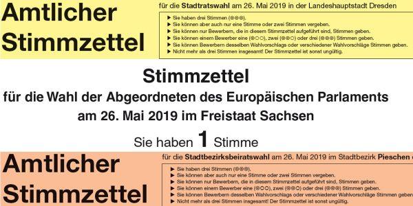 Wahlen 2019: Musterstimmzettel können bei der Orientierung helfen