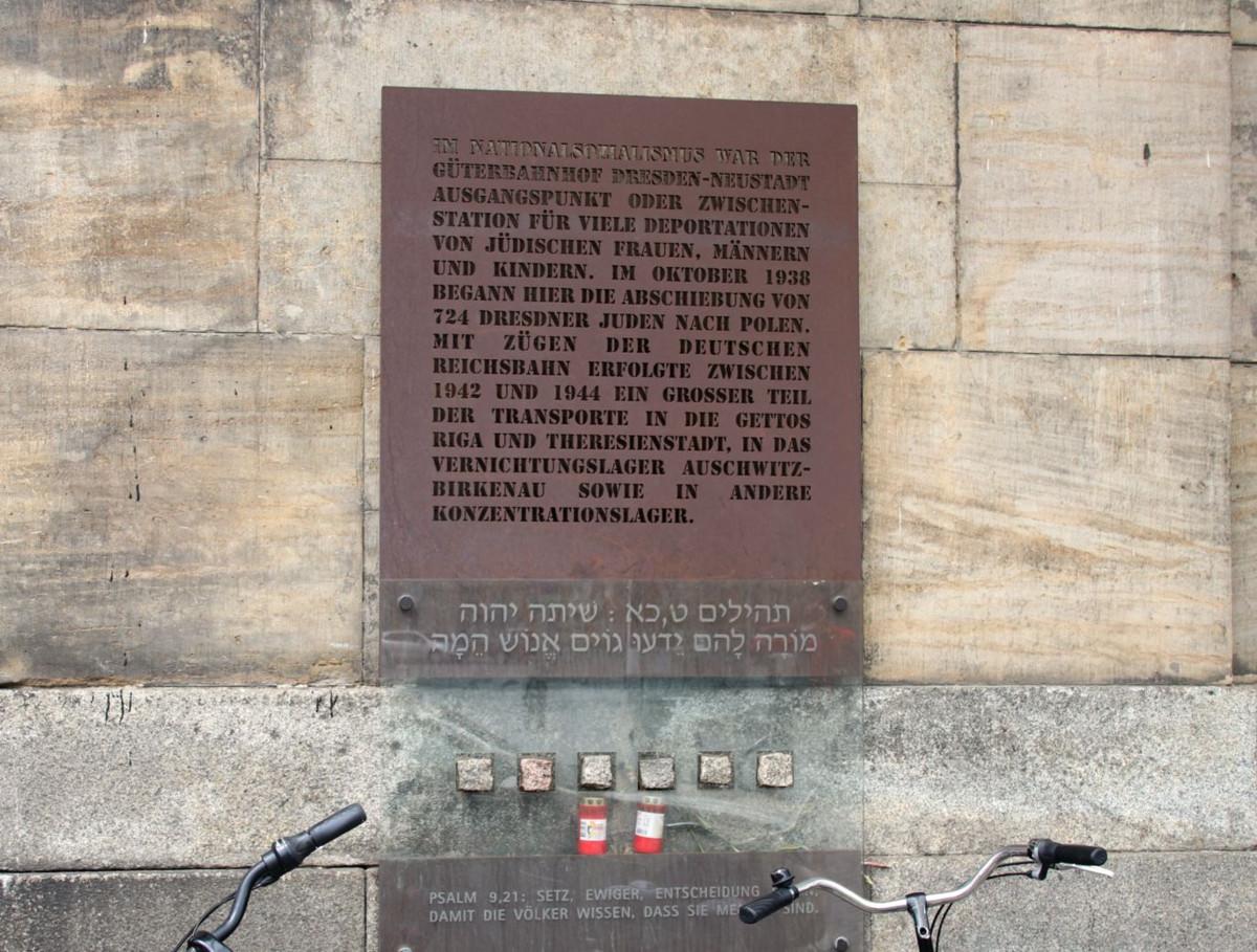 Gedenktafel Deportationen Alter Leipziger Bahnhof